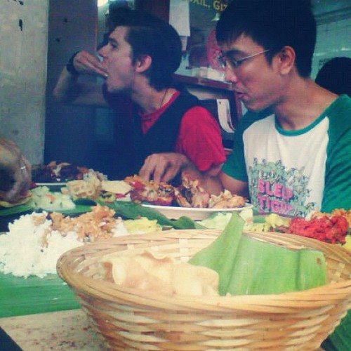 Embrace the banana leaf way. (Taken with Instagram)