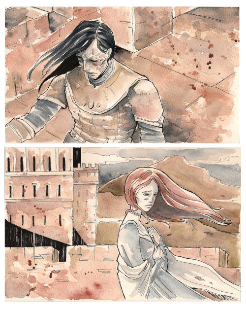 "ASoIaF - Sharp steel and little birds by ~Nachan  She might have fallen, but a shadow moved suddenly, and strong fingers grabbed her arm and steadied her.She grabbed a merlon for support, her fingers scrabbling at the rough stone. ""Let go of me,"" she cried. ""Let go.""""The little bird thinks she has wings, does she? Or do you mean to end up crippled like that brother of yours?"" ~ACoK He is always very timely…"
