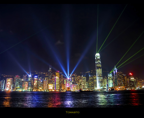 landscapelifescape:  Hong Kong A Symphony of Lights: The World's Most Beautiful Skyline Part II. (by Tomasito.!)