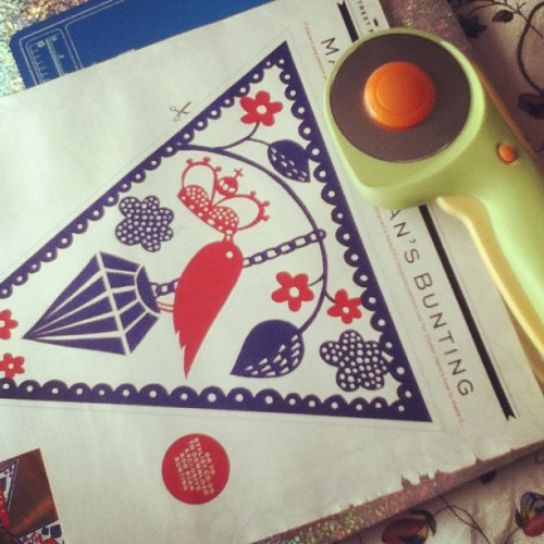 Making my paper #robryan #bunting and loving my #rotarycutter  (Taken with Instagram)