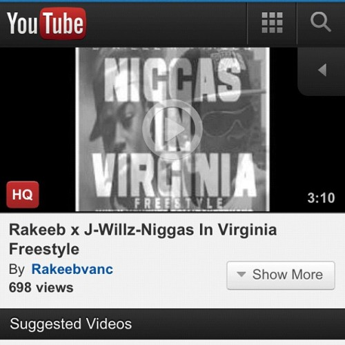 J-Willz x Rakeeb - Niggas In Virginia (Niggas In Paris freestyle) Search this on youtube and give a thumbs up! 👍 (Taken with Instagram)