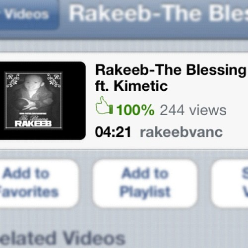 Rakeeb - The Blessing ft. Kimetic! Search this on youtube and give it a thumbs up! 👍 (Taken with Instagram)