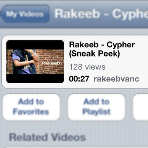 Rakeeb - Cypher (Sneak Peek) Search this on youtube and give it a thumbs up! 👍 (Taken with Instagram)