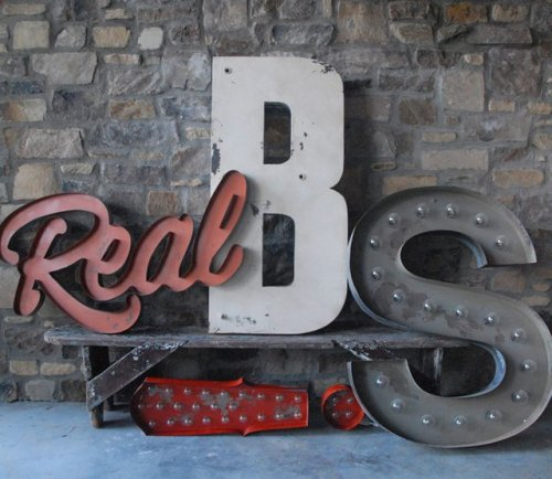 Custom Lettering by Sideshow Sign Co.