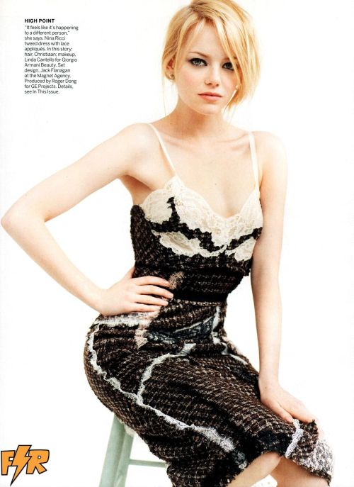 gasstation:  Emma Stone: Comic Relief - Vogue US photographed by Mario Testino, July 2012