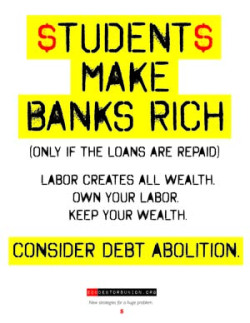 Poster by Monica Johnson for EDU Debtors Union
