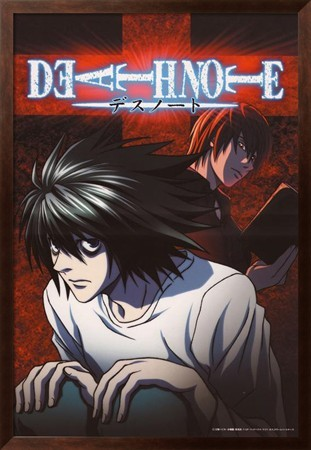 [ Framed Art Print ] DEATH NOTE 74 * 107 cm & High quality Frame Set
