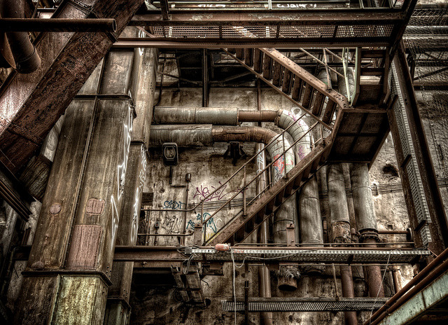 urbanusapocalypsi:  Powerplant Staircase (by Batram)