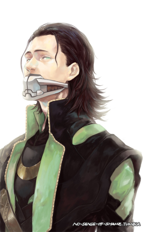 no-sense-of-shame:  last month's work ('-'*)  loki is soooooo beautiful !!! XD