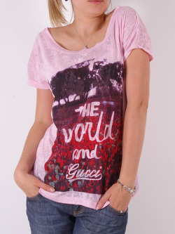Gucci Stylish T-shirt for Women - PinkMore photos & another fashion brands: bit.ly/JzBGub