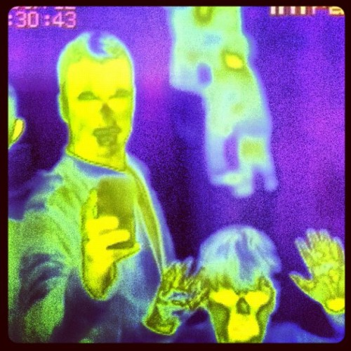 Infrared me & mini me http://instagr.am/p/L79T3Fjatj/
