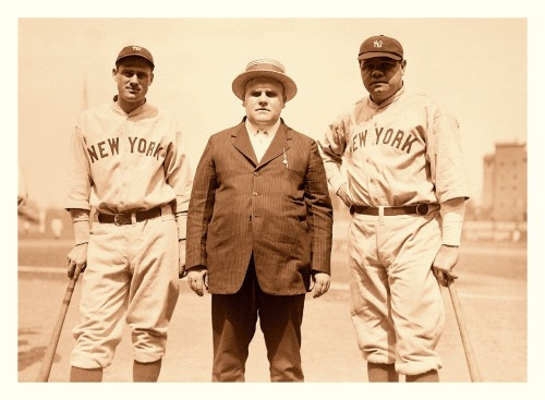 Babe Ruth Barnstorming In Louisvillle, KY Pt.2 - June 2, 1924 (L-R) Earle Combs, unidentified, Babe RuthNot sure who the dapper gentleman in the middle is. My guess is he's either a local politician or he's involved with the Louisville Colonels team (owner, mgr, etc.)