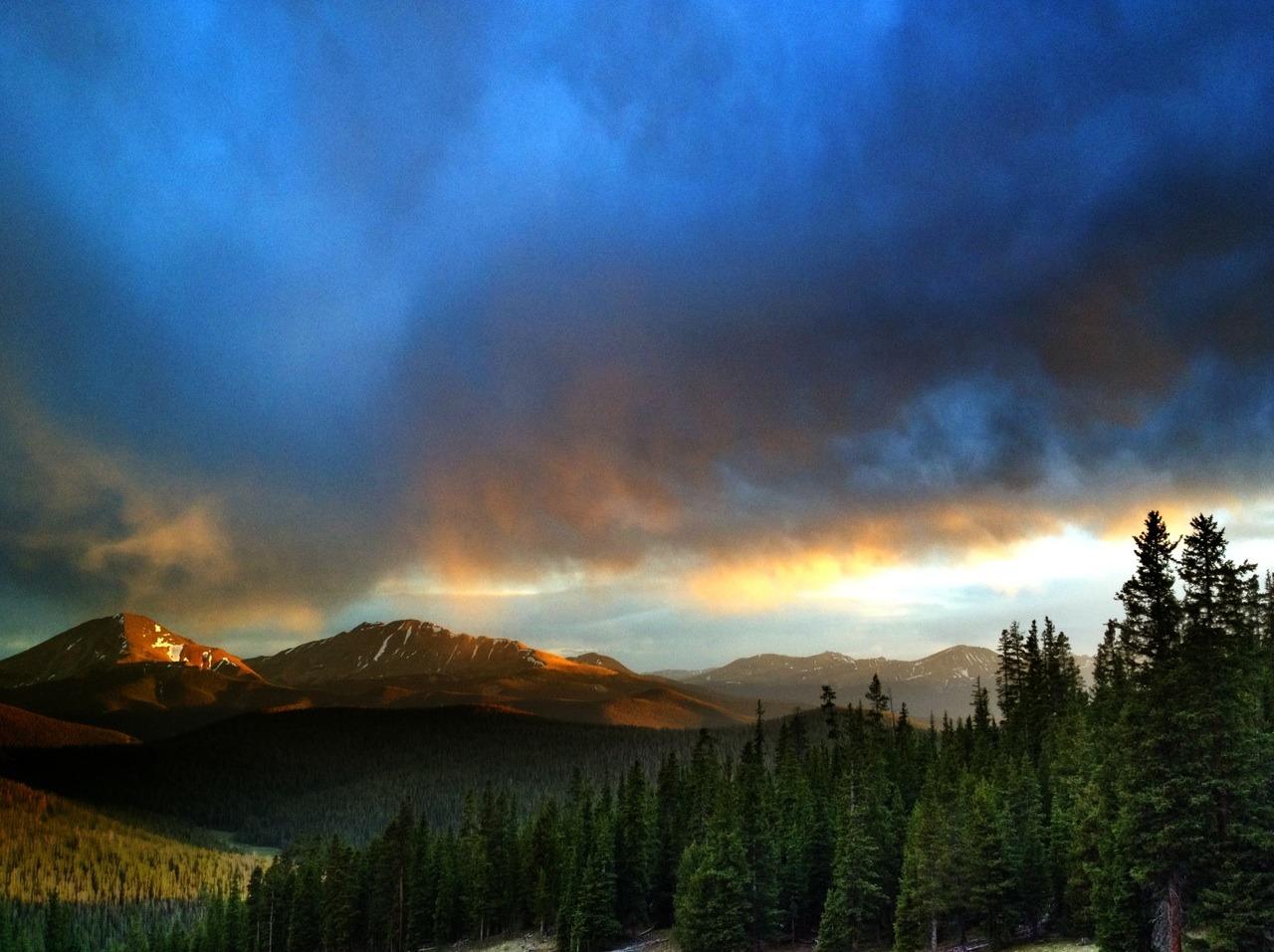 Golden Hour in Keystone, Colorado