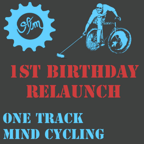onetrackmindcycling:   onetrackmindcycling:  FIRST BIRTHDAY RELAUNCH One Track Mind Cycling celebrates it's first birthday with a site relaunch, new merch store, and a give away  the winner will get 1 shirt, 2 patches, and 2 stickers.  like, follow, and reblog to be entered to win.   only one week left
