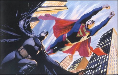 Un Batman al giorno Batman e Superman di Alex Ross.