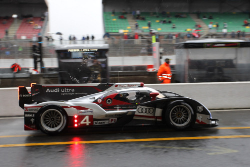 "Mike ""Rocky"" Rockenfeller in the #4 Audi R18 Ultra"