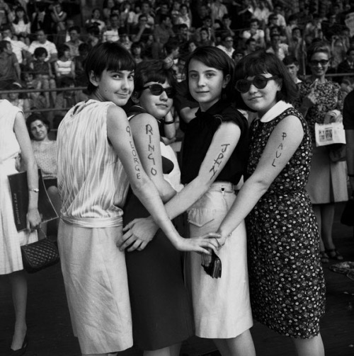 thegilly:  Fans at a Beatles concert at the Velodromo Vigorelli in Milan, 24 June 1965.