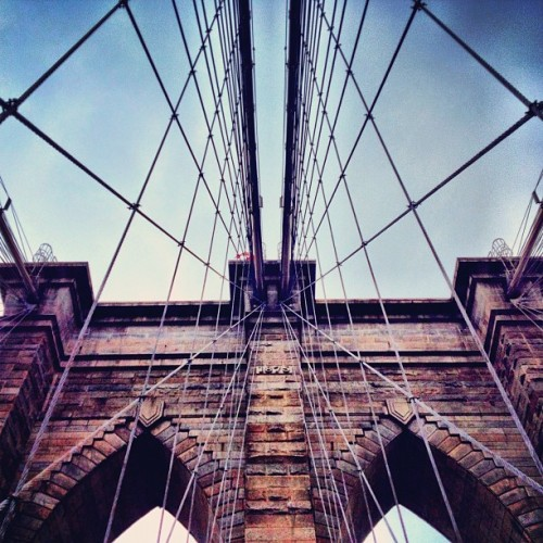 Wires and stone (Taken with Instagram at Brooklyn Bridge)