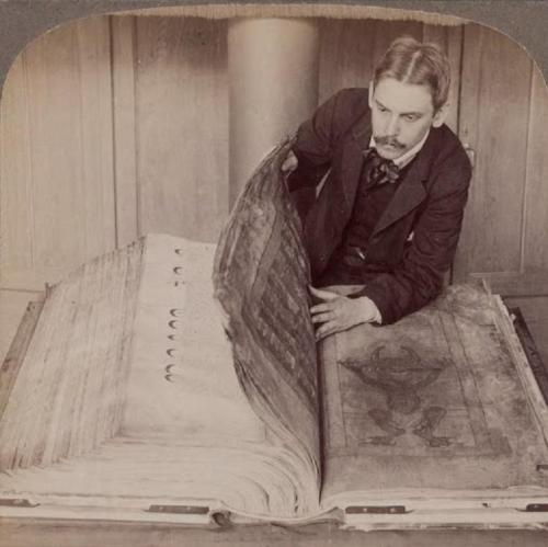 norma-bara:  The Codex Gigas (Giant Book), also known as the Devil's Bible, is the largest extant medieval manuscript in the world. According to the Codex legend, the single scribe was a monk who breached his monastic code and was sentenced to be walled up alive with no chance of escape. There was only one way the monk could avoid his excruciating death, he promised to create a beautiful, and fascinating book to glorify the monastery forever; a book that would include all human knowledge. There was one catch, he was given only twenty-four hours to complete the task in and if the monk would complete the task, then be free to live.Read about Codex Gigas: http://en.wikipedia.org/wiki/Codex_Gigas