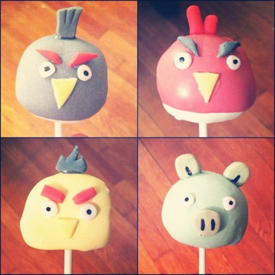 It's my first time making cake pops, so give me a break.