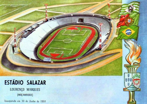 Estádio Salazar 1968 - Mozambique Opened in 1968 when Mozambique was still under Portuguese colonial rule the stadium was officially inaugurated with a match between the national teams of Portugal and Brazil. The Brazilians won 2-0 with goals from Rivelino and Jair. In 1975 the stadium was the venue for Mozambique's proclamation of independence from Portugal and was renamed Estadio da Machava - in 2005 the stadium was again renamed this time to the Independence Memorial Stadium. The stadium is home to 9-times Mozambique champions Ferroviario de Maputo.