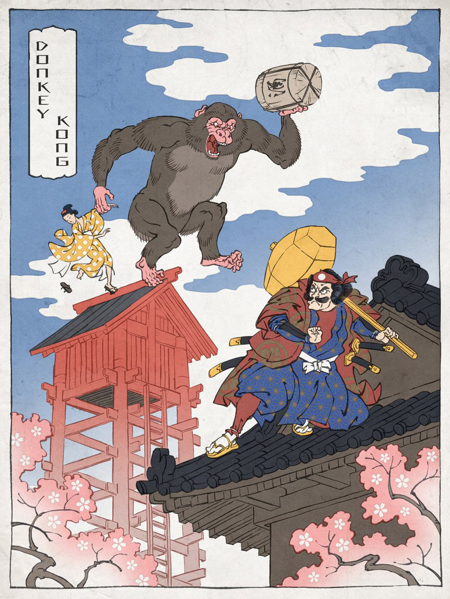 Mario Bros. Ukiyo-e style! WANT! (via Jed Henry Illustration)