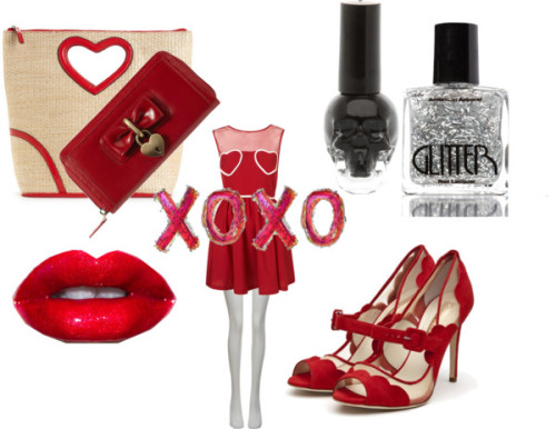 XOXOXO by sammie2013 featuring heart handbags