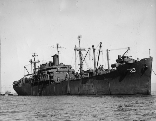 "USS Bayfield, APA-33, circa 1945. It's a family photo - note that the radar antennas are not censored out, as they probably would be in official photograph's during the war. Missing from this photo is the little typed sentence ""Pride of the Amphibious Fleet"" that was under it. Again, crewed by the Coast Guard, who served as the amphibious assault arm of the Navy during the war."