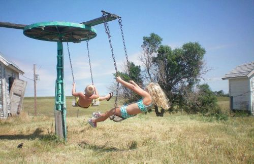 and clearly we have spicy swings too!  spicyslides:  Nebraska.  Grandpa's farm.