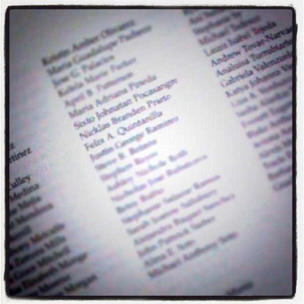 It's official, his name is in the CSULA 65th Commencement program.  (Taken with Instagram at California State University - Los Angeles)