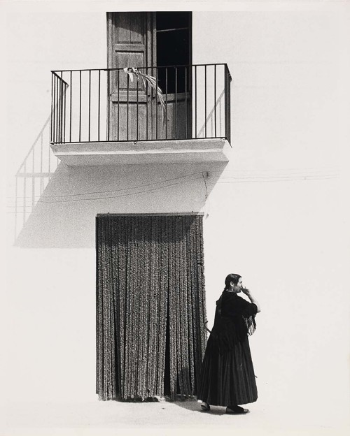 Todd Webb Ibiza Woman Before Curtain, 1951 Thanks to undr