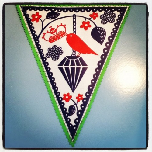 Tah da! #crimping all done and one #robryan #bunting ready (Taken with Instagram)