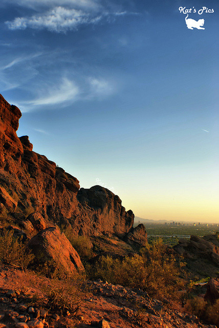 "The Red Rocks of Camelback Mountain on Flickr.www.katheryns-gallery.com ""Great men are rarely isolated mountain peaks; they are the summits of ranges."" — Thomas W. Higginson"