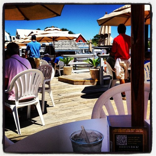 The view from my table at lunch. #Winning  (Taken with Instagram at Salty Dog Cafe-Waterside Deck)