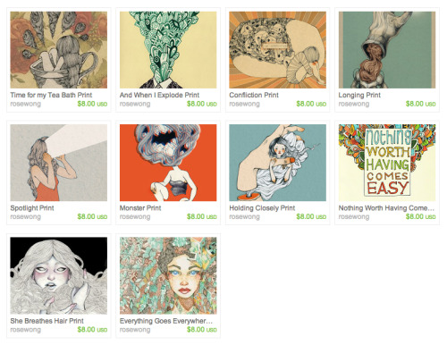 Haven't given any attention to my Etsy Shop lately, so I am promoting it ha! Should go check it out!