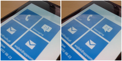 littlebigdetails:  Windows Phone 7 - The messaging app icon changes to sad face when an error occurred while sending a message. /via Wojtek Siudzinski