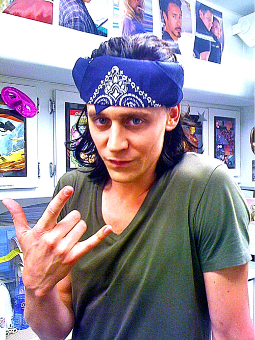 Tom Hiddleston, with Loki hair (L)