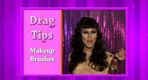 Makeup brush tips from Sharon on Rupaul's Drag U!