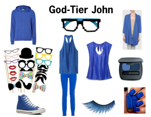 A Fashionstuck set inspired by God-Tier John