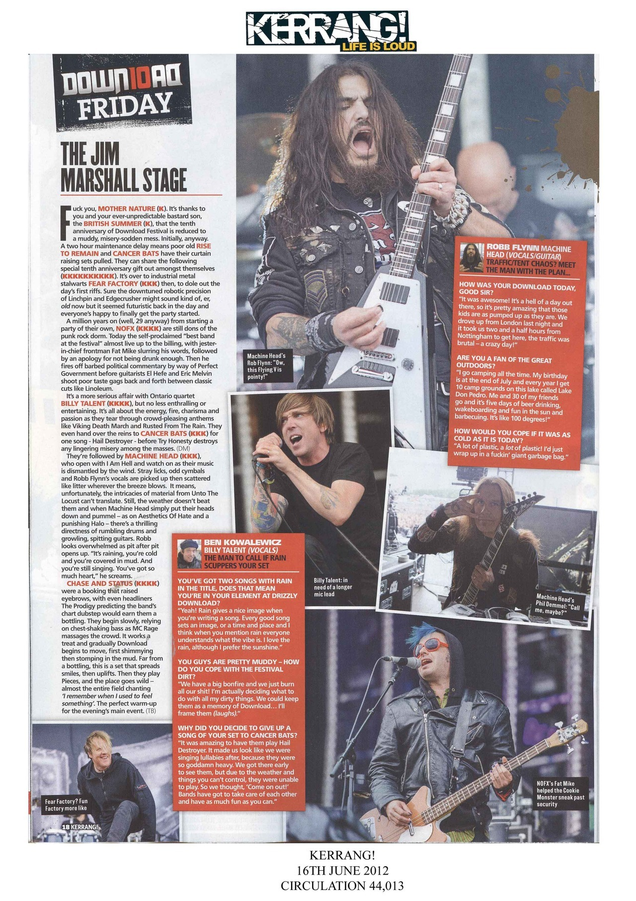 billytalentband:  Live review and interview with Ben in Kerrang! from the Download Festival! - Jessica