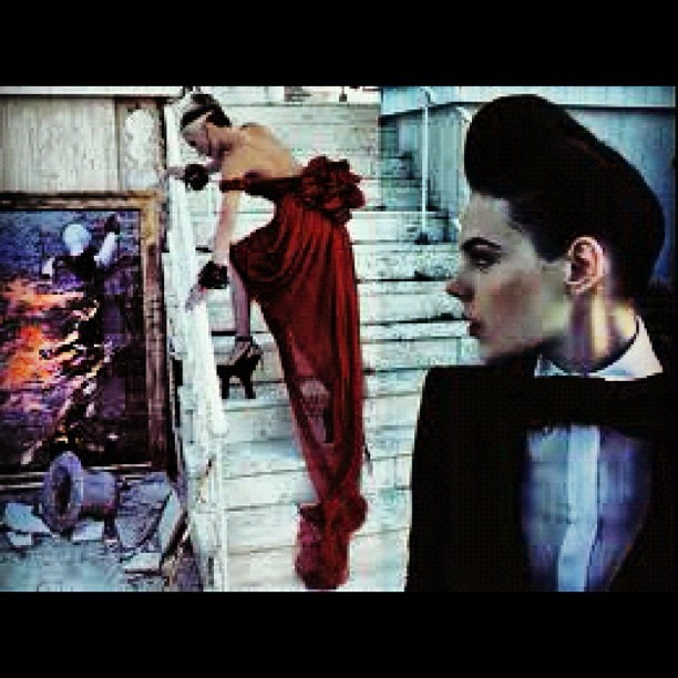 Socialite & Fashionista Daphne Guinness  (Taken with Instagram)