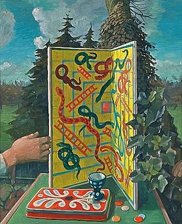 Charles Mahoney Still Life with Snakes and Ladders 1920-40