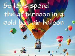 Hot Air Balloon by Owl City