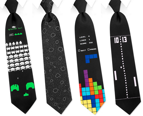 gamingcerebrum:  Retro gamer ties?! For only 25 dollars! YES! http://www.uberreview.com/2009/02/retro-gaming-ties-are-unfortunately-not-made-of-silk.htm