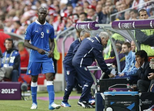 Croatia charged with racism at Euro 2012 Croatia became the 1st team charged with racism at the European Championship after UEFA received reports that fans made monkey chants at Italy forward Mario Balotelli, AP reports Photo: Italy's Mario Balotelli is seen on June 14, 2012, leaving the pitch after being substituted during the Euro 2012 soccer championship Group C match between Italy and Croatia in Poznan, Poland. (AP Photo/Jon Super)
