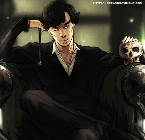 sexlock:  Harry Potter AU - Professor Holmes Potions Master Sherlock with his favourite talking Horcrux skull. Because I'm doing a HP AU rp again and I like it.