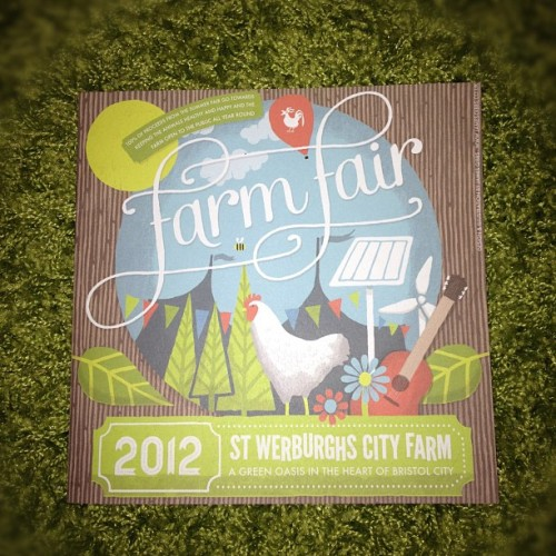 Farm fair program cover I designed (Taken with Instagram)