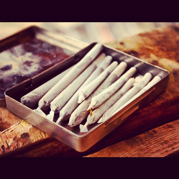 You just don't know..! #photography #close-up #roll-up #weed #tobacco #wood #furnishing #container (Taken with Instagram)