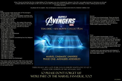 Europe needs and deserves a Collector's edition of the Avengers, too!  (Please click on the picture to see a bigger version.)