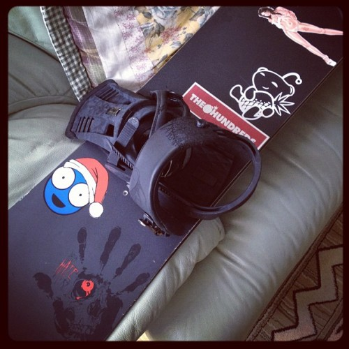 #stickerbomb #snowboard #2013 #winter #summer #wtf #burton #hate #sick #bored (Taken with Instagram)